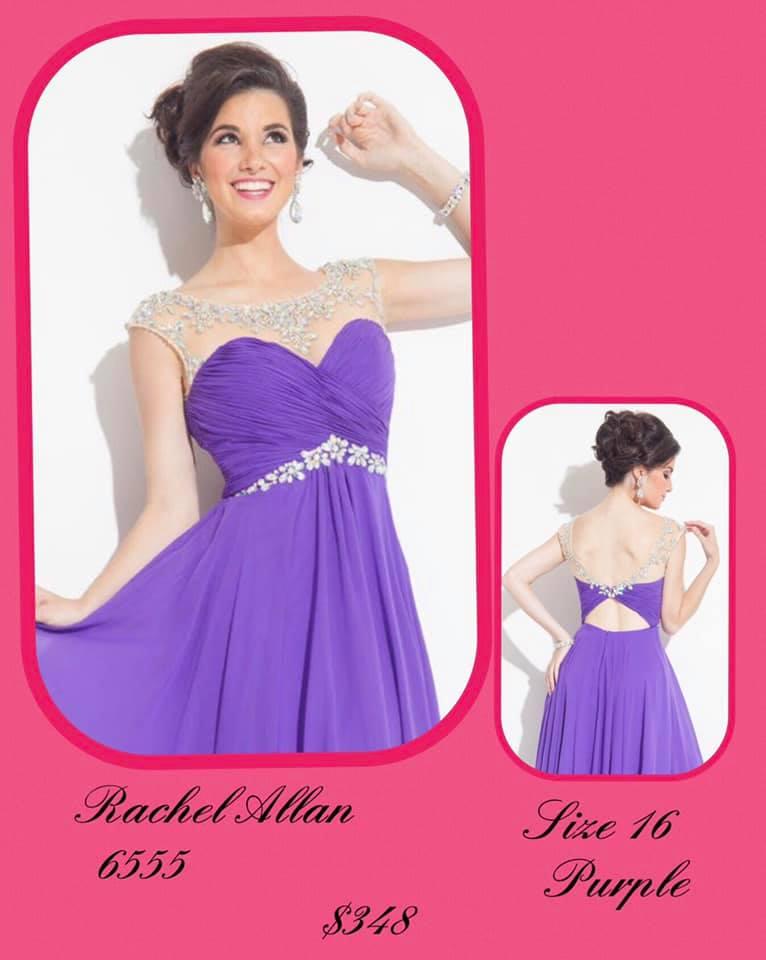 Rachel Allan Purple Size 16 Sweetheart Tall Height Cocktail Dress on Queenly