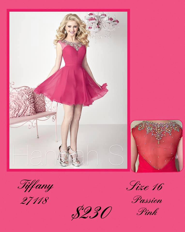 Queenly size 16 Tiffany Designs Pink Cocktail evening gown/formal dress