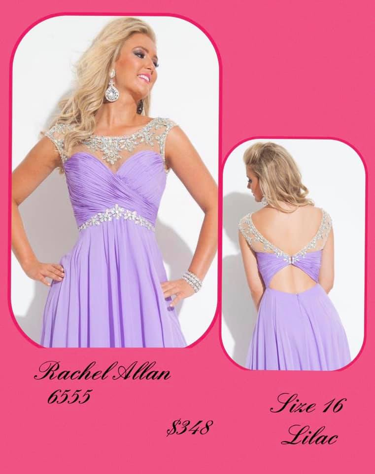 Queenly size 16 Rachel Allan Purple Cocktail evening gown/formal dress