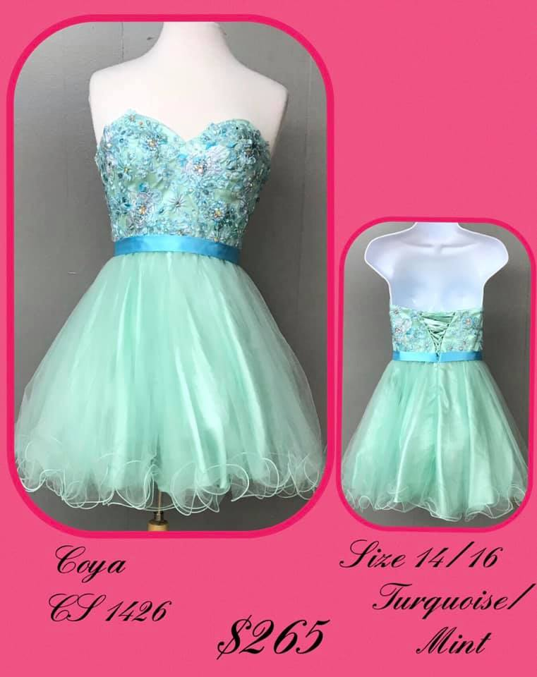 Queenly size 16 Coya Green Cocktail evening gown/formal dress