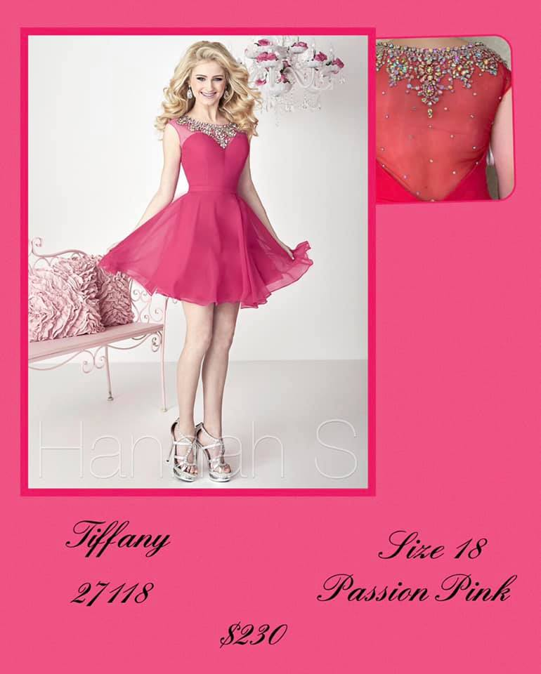 Queenly size 18 Tiffany Designs Pink Cocktail evening gown/formal dress