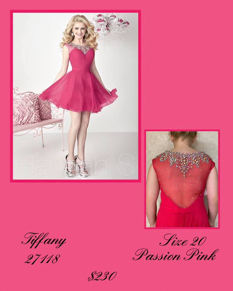 Queenly size 20 Tiffany Designs Pink Cocktail evening gown/formal dress