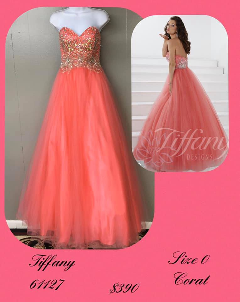 Queenly size 0 Tiffany Designs Orange Ball gown evening gown/formal dress
