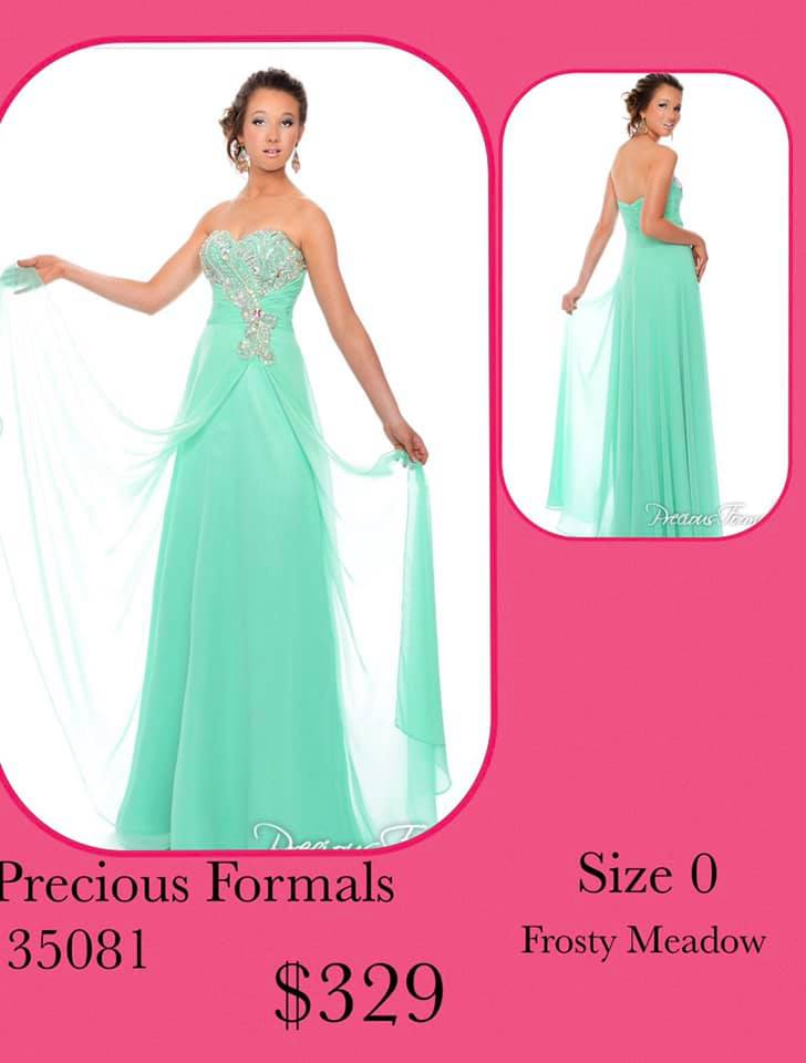 Queenly size 0 Precious Formals Green Ball gown evening gown/formal dress