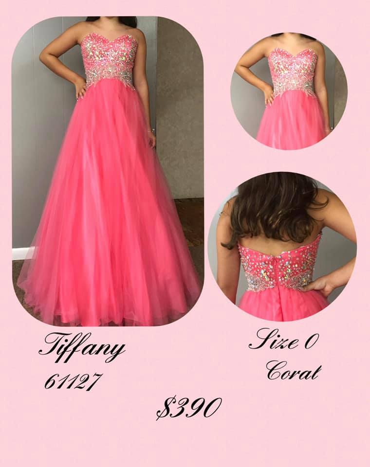 Tiffany Designs Pink Size 0 Tall Height Ball gown on Queenly