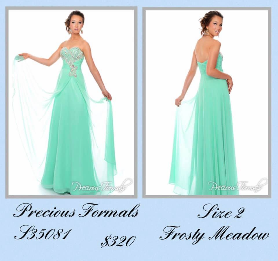 Queenly size 2 Precious Formals Green Ball gown evening gown/formal dress