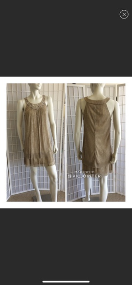 Decode Gold Size 6 A-line Dress on Queenly
