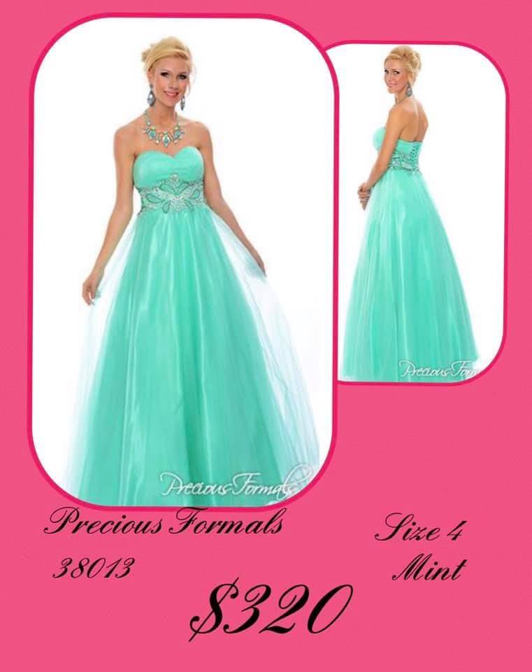 Queenly size 4 Precious Formals Green Ball gown evening gown/formal dress
