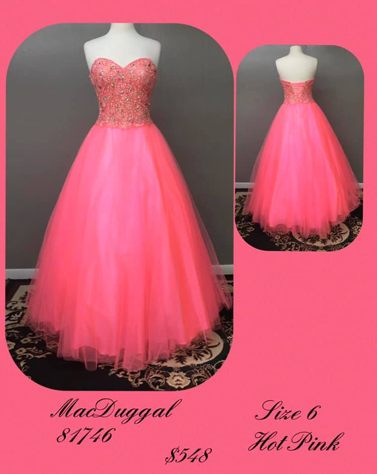Queenly size 6 Mac Duggal Pink Ball gown evening gown/formal dress