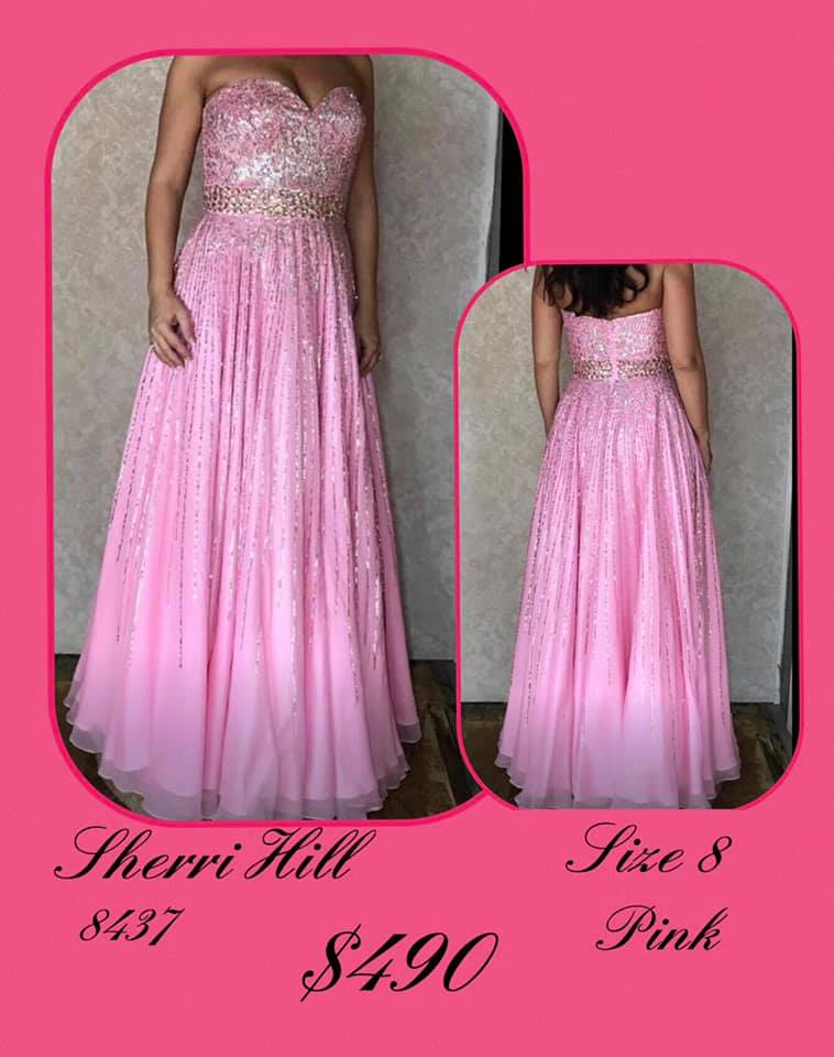 Sherri Hill Pink Size 8 Sweetheart Tall Height Ball gown on Queenly