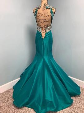 Ritzee Green Size 0 Aquamarine Teal Sequin Mermaid Dress on Queenly