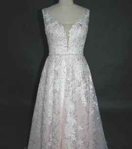 Queenly size 10  White A-line evening gown/formal dress