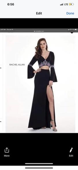 Queenly size 12 Rachel Allan Black Mermaid evening gown/formal dress