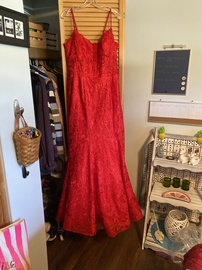 Queenly size 16 Ellie Wilde Red Straight evening gown/formal dress