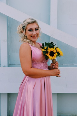 Sherri Hill Pink Size 4 Train Side slit Dress on Queenly