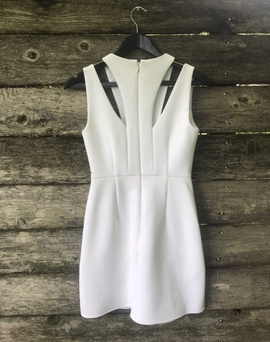 BCBG White Size 0 Polyester Interview Cocktail Dress on Queenly