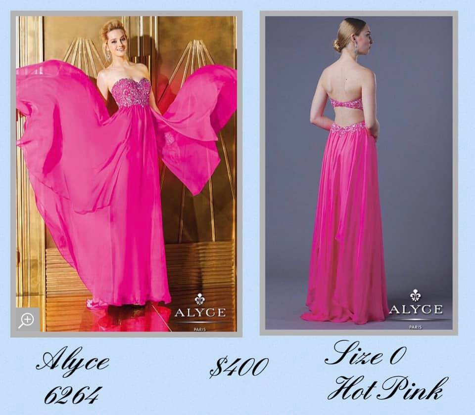 Queenly size 0 Alyce Paris Pink A-line evening gown/formal dress