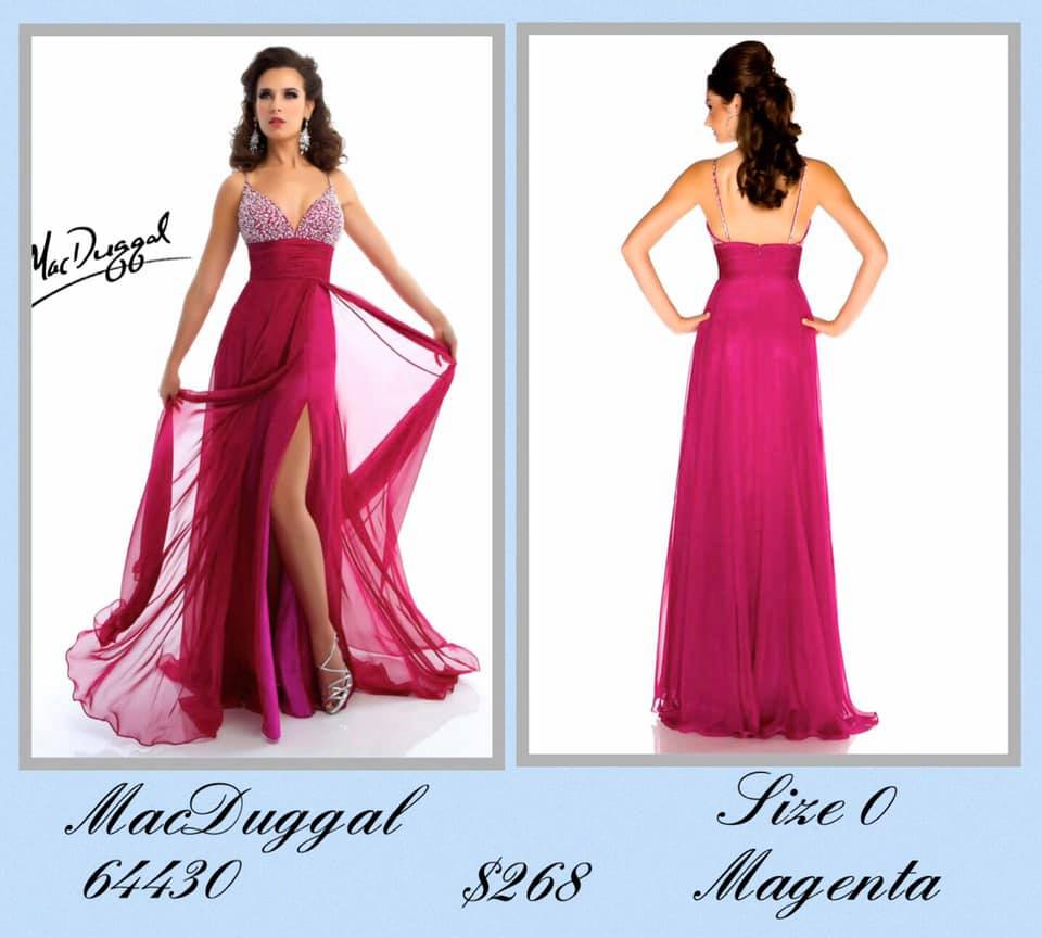 Queenly size 0 Mac Duggal Red Side slit evening gown/formal dress