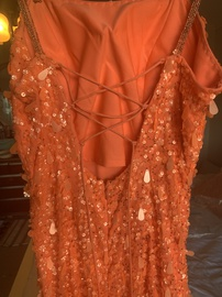 Sherri Hill Orange Size 2 Prom Sequin Straight Dress on Queenly