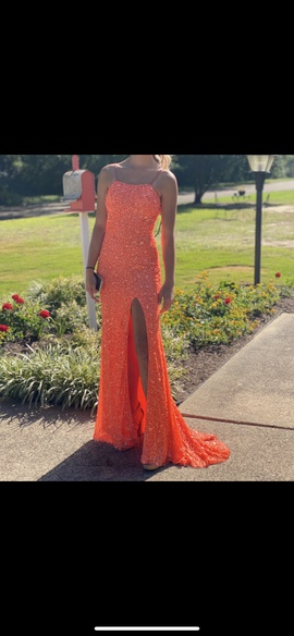 Queenly size 2 Sherri Hill Orange Straight evening gown/formal dress