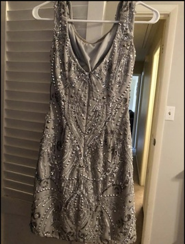 Silver Size 0 Cocktail Dress on Queenly