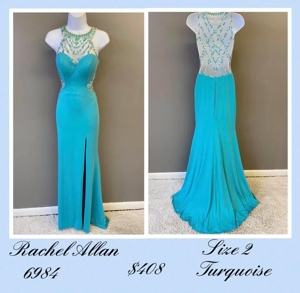 Rachel Allan Blue Size 2 Backless Sweetheart Tall Height A-line Dress on Queenly