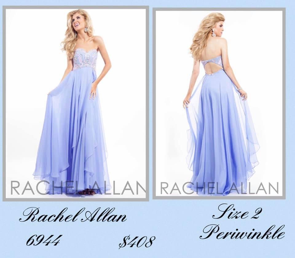 Rachel Allan Blue Size 2 Backless Tall Height A-line Dress on Queenly