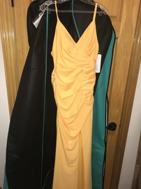 Queenly size 4  Yellow Train evening gown/formal dress