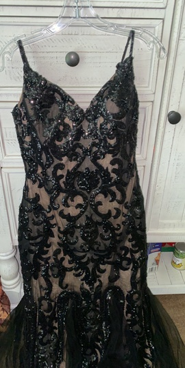 Jovani Black Size 6 Pageant Lace Mermaid Dress on Queenly