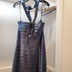 BCBG Blue Size 12 Homecoming Prom Cocktail Dress on Queenly