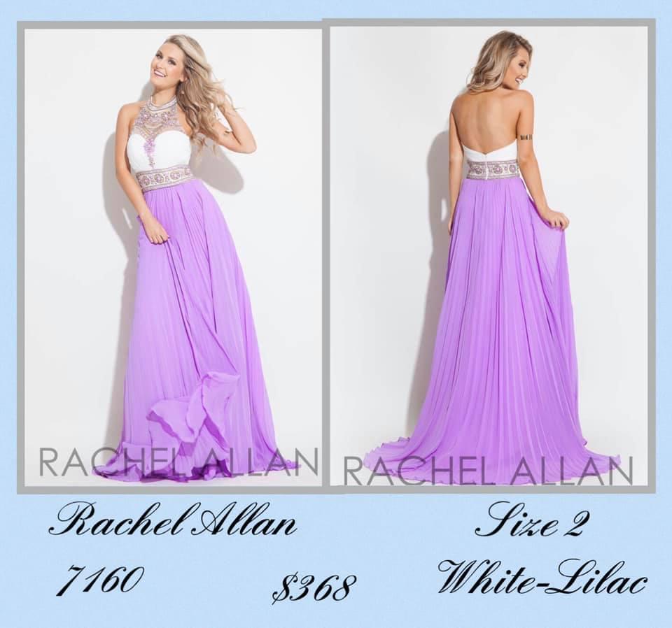 Rachel Allan Purple Size 2 Backless Tall Height A-line Dress on Queenly