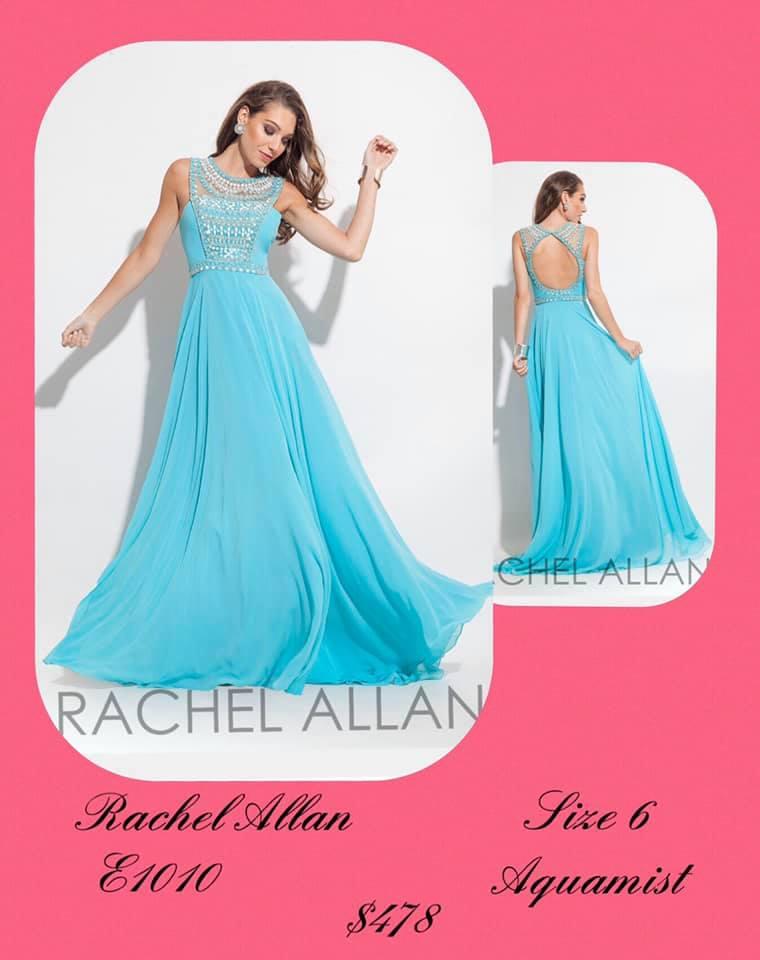 Queenly size 6 Rachel Allan Blue A-line evening gown/formal dress