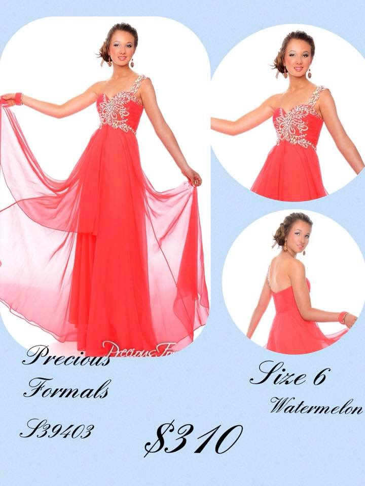 Queenly size 6 Precious Formals Pink A-line evening gown/formal dress