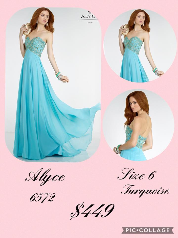 Alyce Paris Blue Size 6 Turquoise Sweetheart Tall Height A-line Dress on Queenly