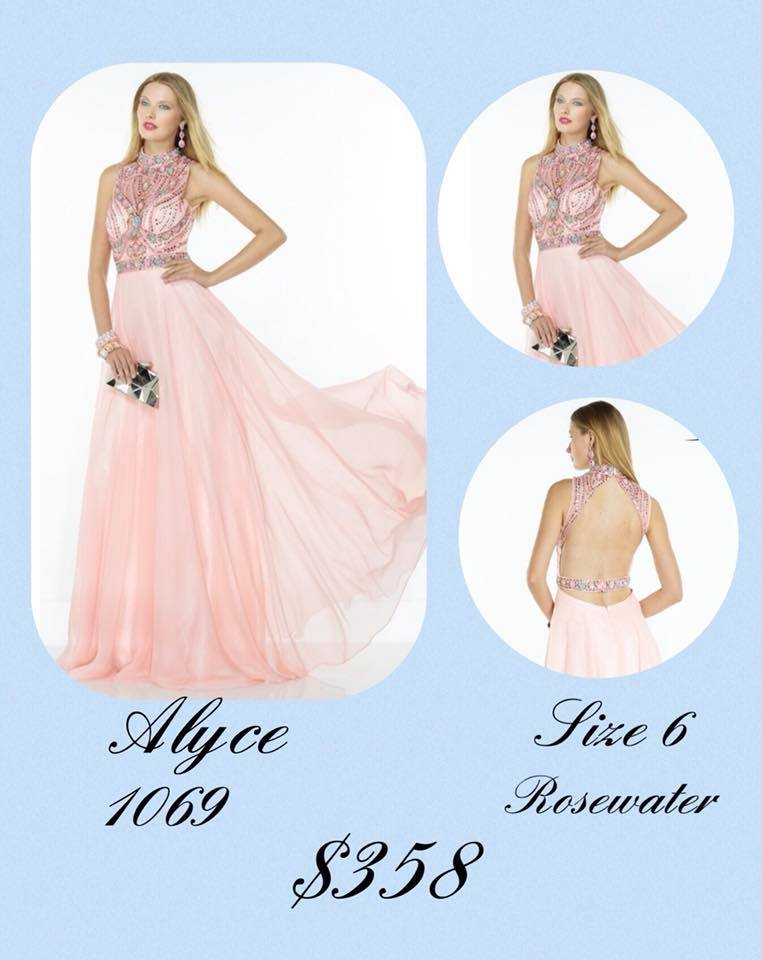 Queenly size 6 Alyce Paris Pink A-line evening gown/formal dress