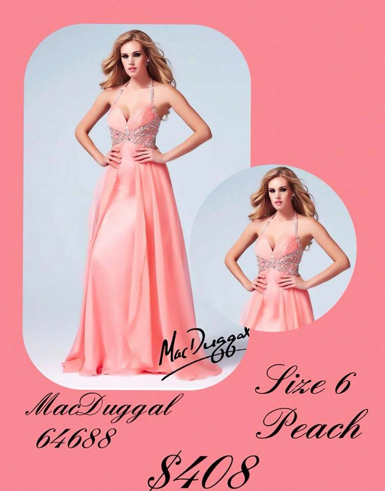 Queenly size 6 Mac Duggal Pink A-line evening gown/formal dress