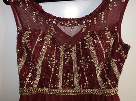 Kim Karan Red Size 20 Homecoming Sequin Ball gown on Queenly