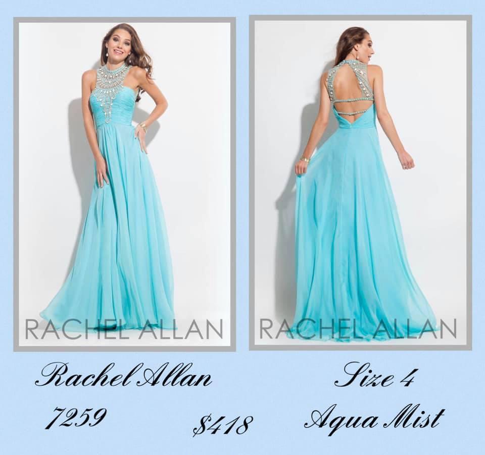 Rachel Allan Blue Size 4 Backless Tall Height A-line Dress on Queenly