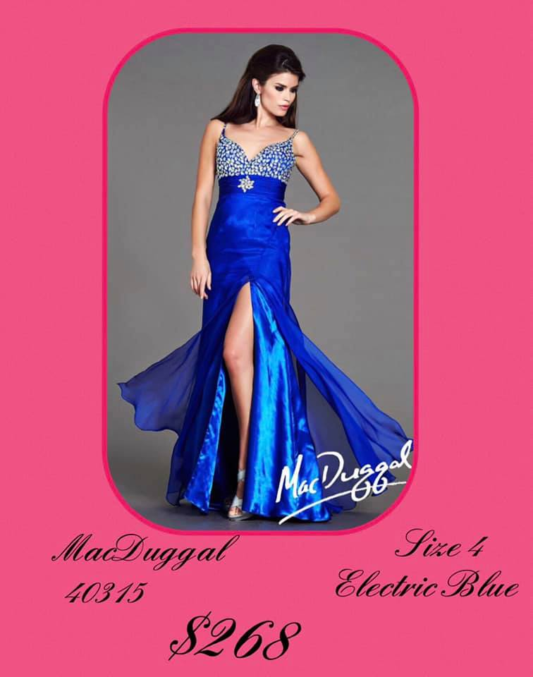 Mac Duggal Blue Size 4 Tall Height A-line Dress on Queenly