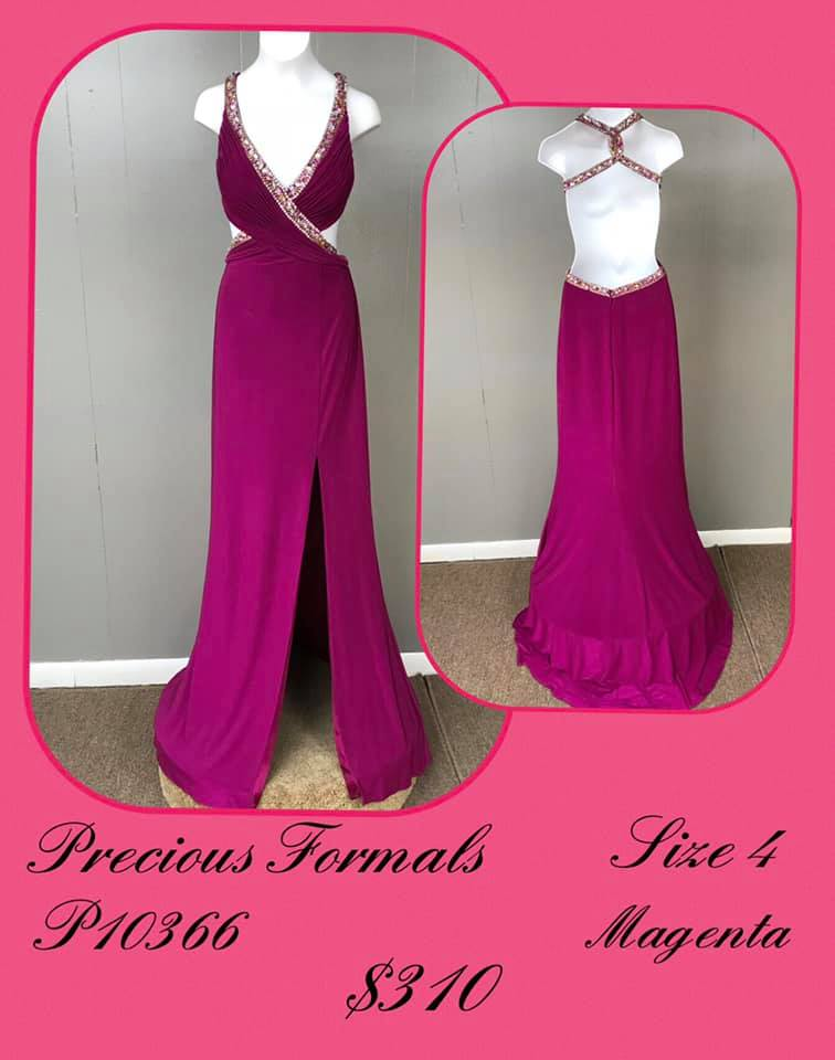 Queenly size 4 Precious Formals Purple A-line evening gown/formal dress
