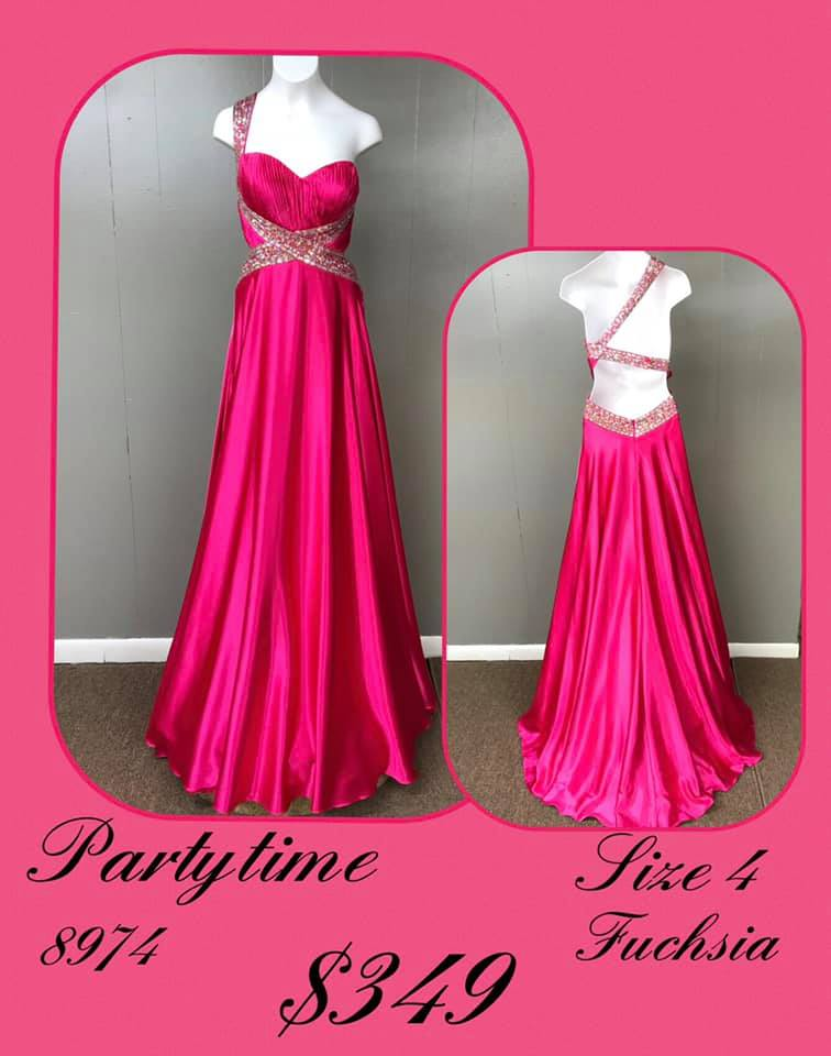 Queenly size 4 Party Time Formals Pink A-line evening gown/formal dress