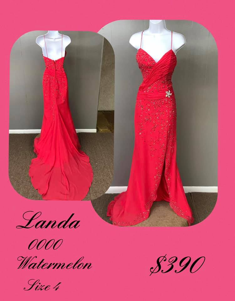 Landa Red Size 4 Sweetheart Tall Height Train Dress on Queenly