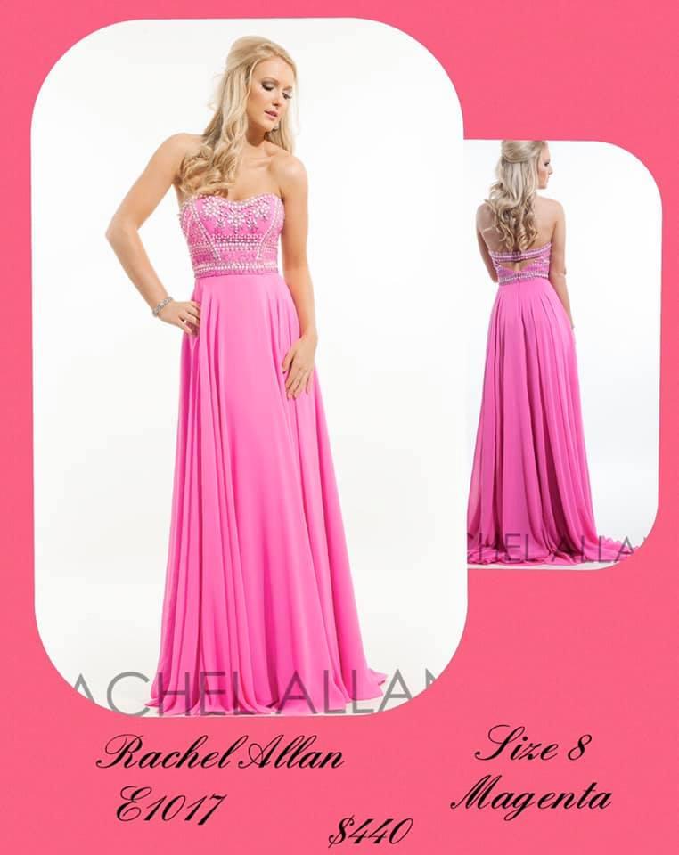 Queenly size 8 Rachel Allan Pink A-line evening gown/formal dress