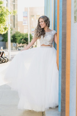 Sherri Hill White Size 0 Pageant Jewelled Short Height Ball gown on Queenly