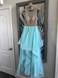 B. Darlin Blue Size 6 A-line Dress on Queenly