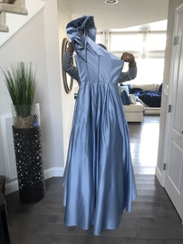 Betsy & Adam Light Blue Size 8 A-line Dress on Queenly
