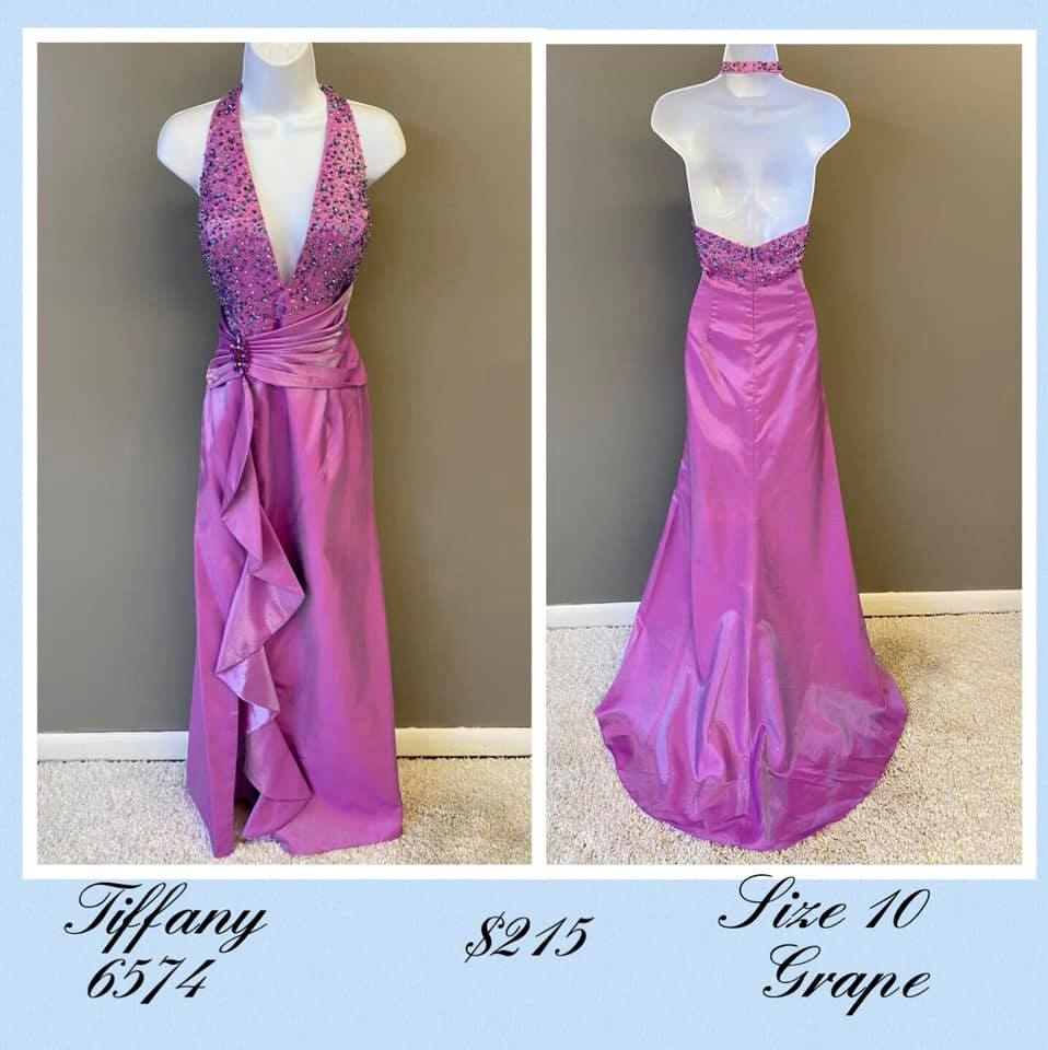 Queenly size 10 Tiffany Designs Purple A-line evening gown/formal dress