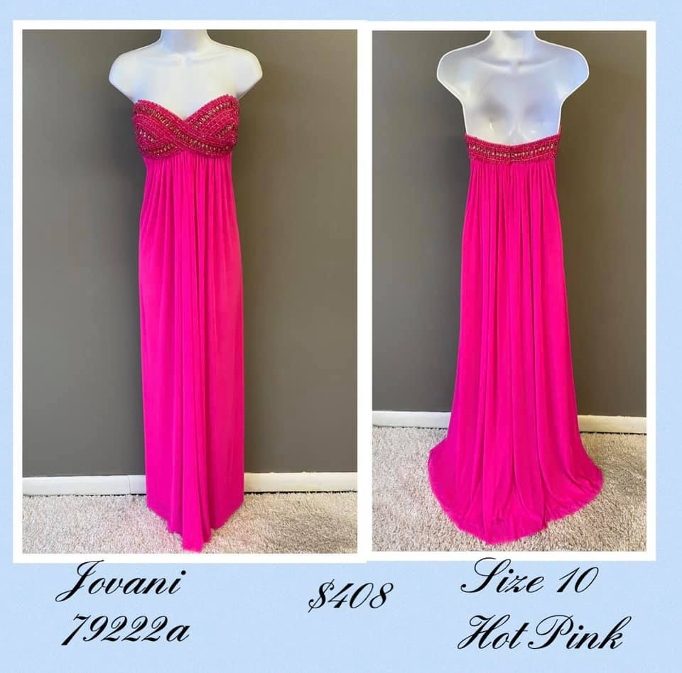 Queenly size 10 Jovani Pink A-line evening gown/formal dress