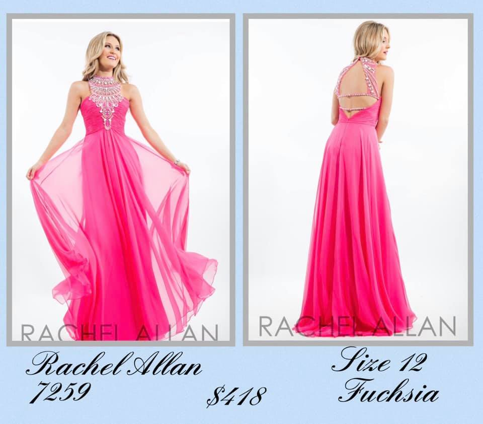 Queenly size 12 Rachel Allan Pink A-line evening gown/formal dress