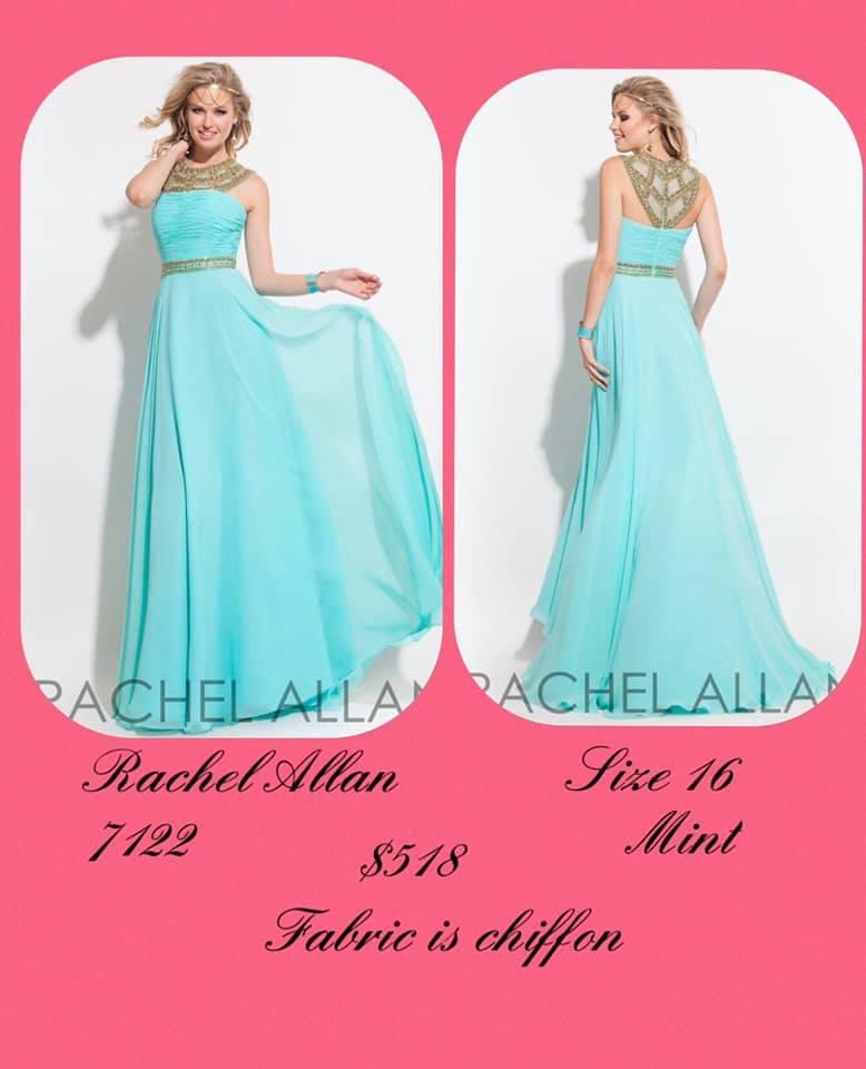 Rachel Allan Blue Size 16 Halter Backless Tall Height A-line Dress on Queenly